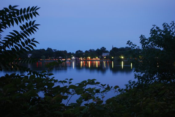 Jamaica Pond at twilight