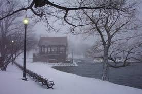 Winter at Jamaica Pond in Boston