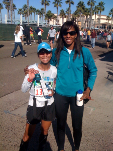 Jesu & Toya after half-marathon PR