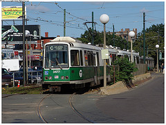 MBTA Green Line in Cleveland Circle