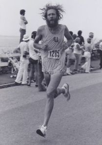 Assistant manager Jason all in at 1978 Falmouth Road Race