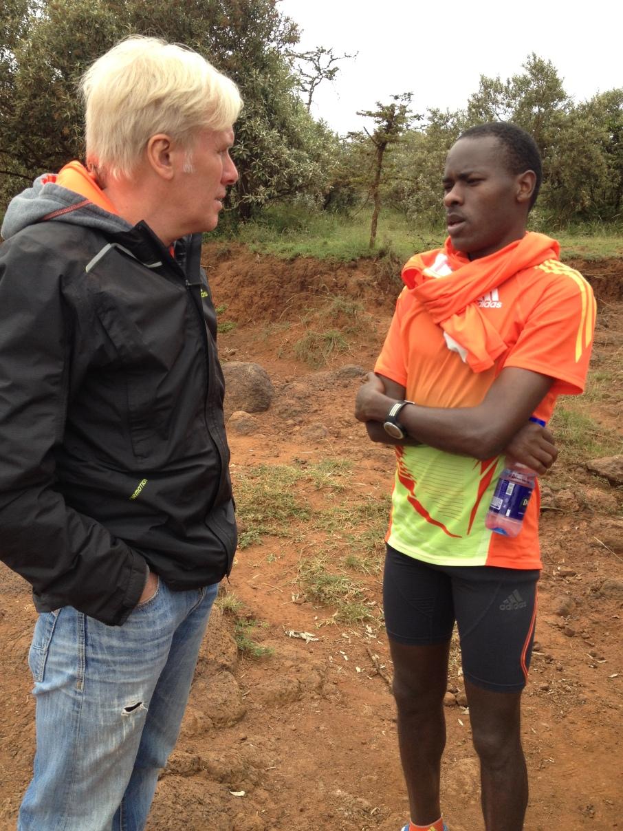 Zane Branson & Patrick Makau in Kenya