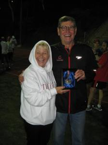 Anne & Jim Ryun with Mexico City `68 silver medal