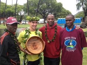 """Hapalua """"Chase"""" champion Steve Marthy with Makau, Muindi & Manza"""