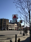 Kenmore Square desolate at midday.