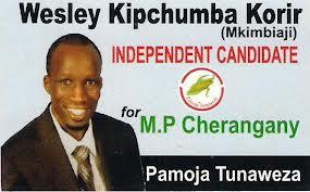 Kenyan MP Wesley Korir