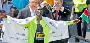 Wesley Korir in Boston 2012