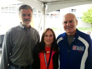 Cleveland Mayor Frank Johnson with Bernie & Jack Staph