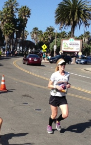 Marla on pace at 21 miles at Cliff Bar Mountain 2 Ocean Marathon
