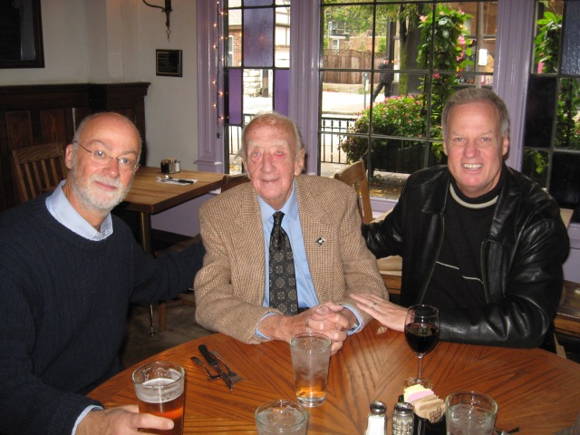 Marek, Pop and I at Duff's celebrating Pop's 98th birthday Oct. 11, 2009