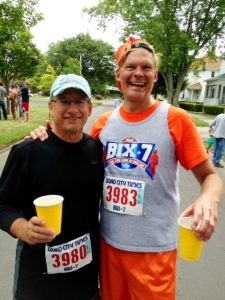 Jeff Lenz (3980) & Steve Risius bring out the tail end of Bix 2013
