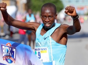 Leonard Korir Captures Bix Title (courtesy Larry Fisher, Quad-City Times)