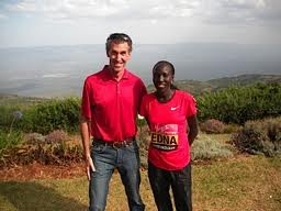 Reilly with 2011 World Marathon Champion Edna Kiplagat