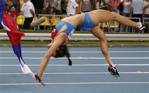 Isinbayeva Jumping for Joy
