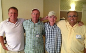 GBTC alums (l - r) Randy Thomas, Brad Hurst, Bob Hodge, Mike Roche