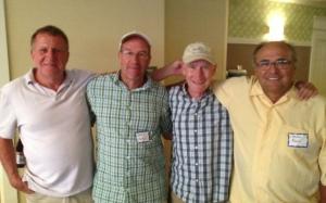 GBTC alums (l - r) Randy Thomas, Brad Hurst, Bob Hodge, Mike Roche