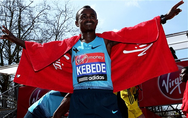 Kebede stands tall in London 2013