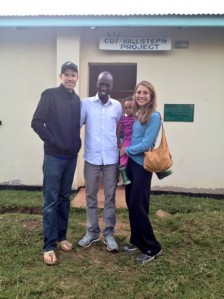 Korir with Ryan and Sara Hall