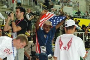 Abdi leading the cheers in Osaka 2007