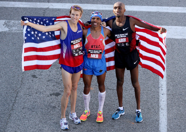 With Ryan Hall and Meb Keflezighi, Abdi in Houston 2012 Olympic Trials
