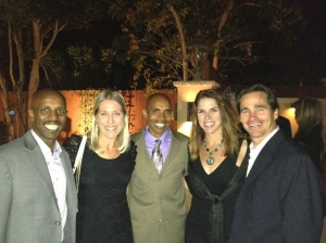 "Hawi Keflezighi, Erin Whiting, Meb K., Patti Whiting, Bryce Whiting, VP ElliptiGo at ""A Night In La Jolla"""