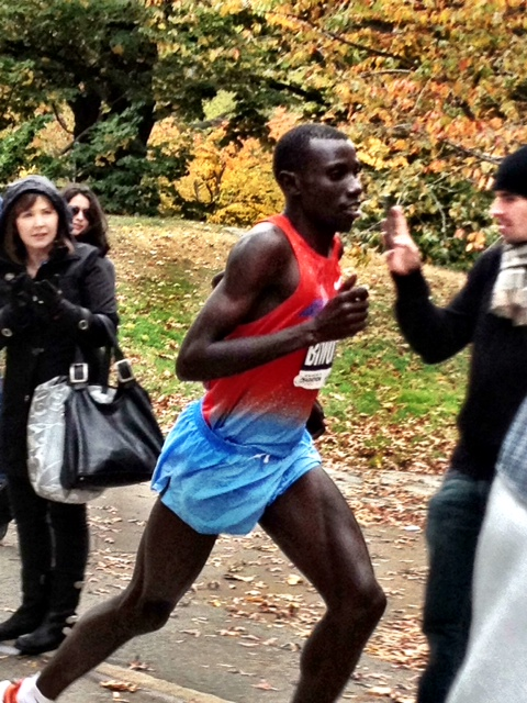 Stanley Biwott still in 2nd in NYC 2013 before fading to 5th