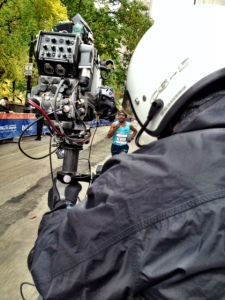 Camera's eye view. This is where I was perched all day behind camera ace Phillip Martinez with Sean Ricci driving