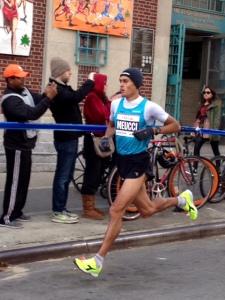Italy's Daniel Meucci takes lead in mile 11 on Bedford Ave.