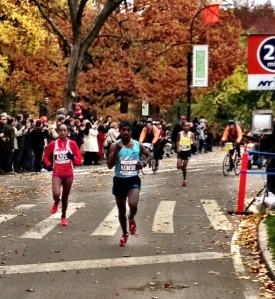 Kebede moves into second place at 25 miles, April in third