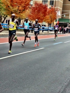 Damage done:  Wesley Korir, Kenyan parliamentarian and 2012 Boston champ gives way