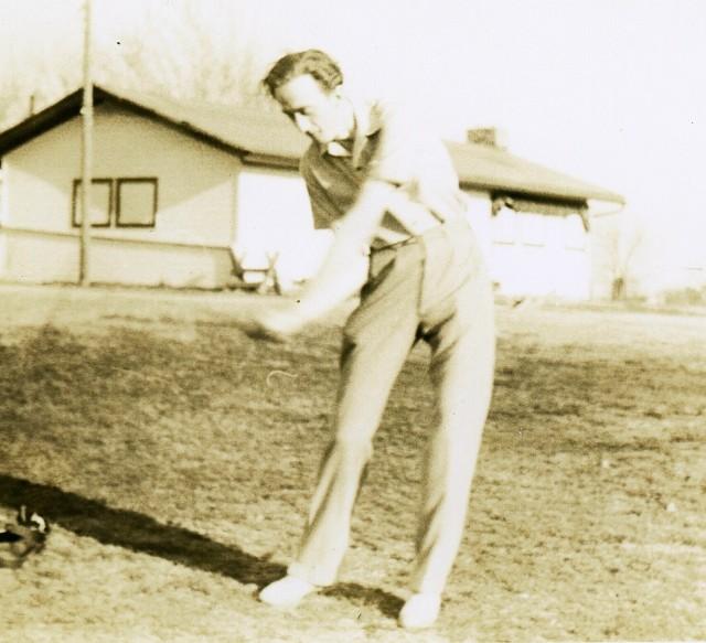 Pop golfing in Forest Park
