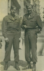 Lt. Isham Reavis in Italy before capture (right)