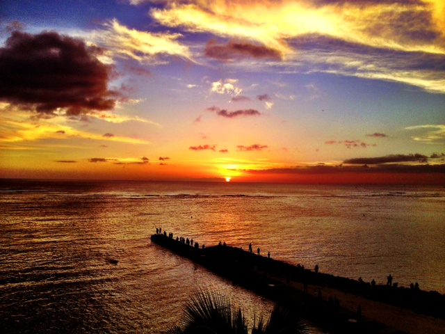 Hono sunset
