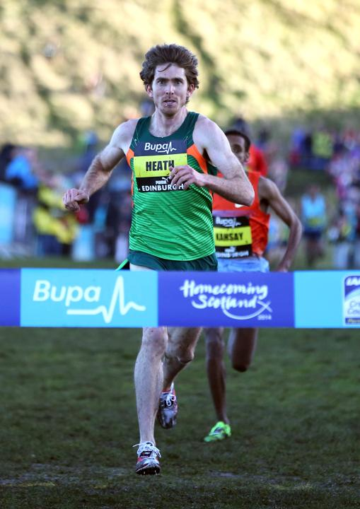 Garret Heath of USA wins the Mens 4km race during the Bupa Great Edinburgh X Country in Holyrood Park on January 11, 2014 in Edinburgh, Scotland. (Photo by Ian MacNicol/Getty Images)