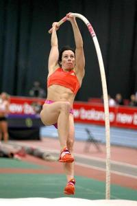 Jenn Suhr flies in Boston (courtesy Photo Run)