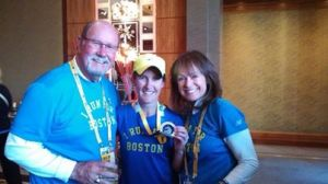 John & Karen with physical therapist Jess
