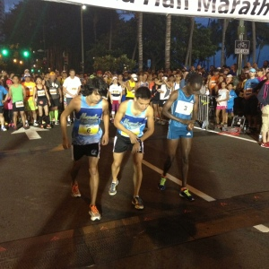 Isabella Ochichi starts with top Hawaiin male runners