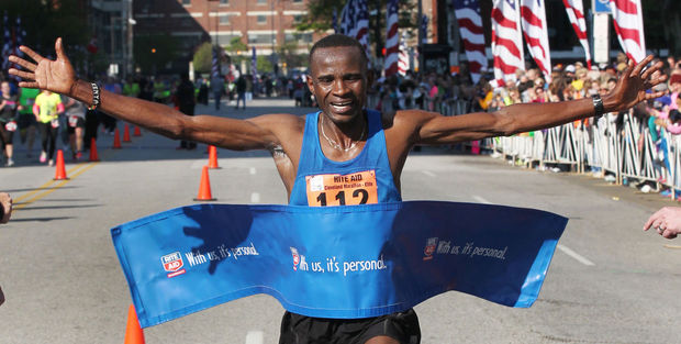 Marathon win to Philip Lagat in 2:12:39, a near 3:00 PR.  He won the 10K in 2010.