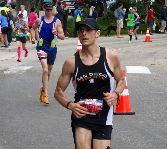 Andy Poplin at 23 on the way to 3:29 debut