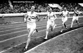 Bannister on his way to history's first sub-4:00 mile