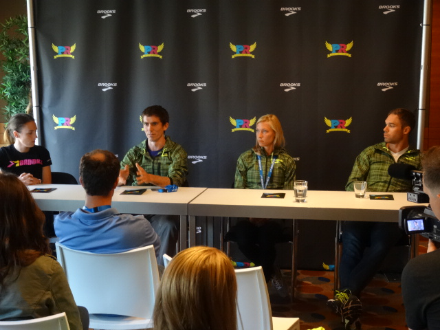 Grunewald, Heath, Mackey, Symmonds meet the press and press for changes