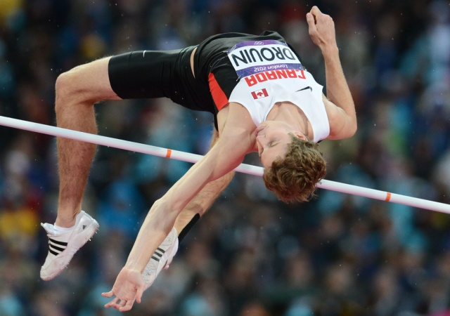 London Olympic bronze medalist Derek Drouin FRANCK FIFE / AFP/GETTY IMAGES