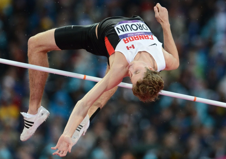 London Olympic bronze medalist Derek Drouin FRANCK FIFE / AFP/GETTY IMAGES