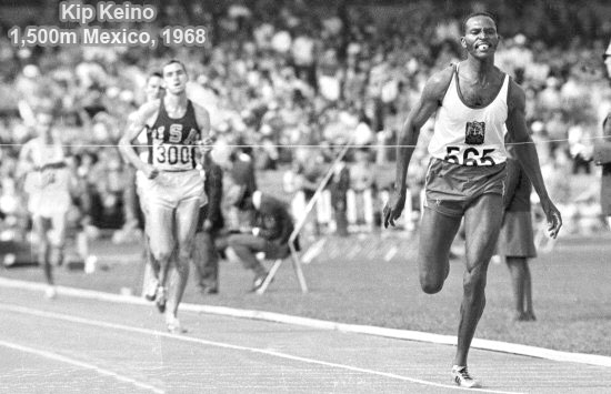 Keino over Ryun in Mexico City `68