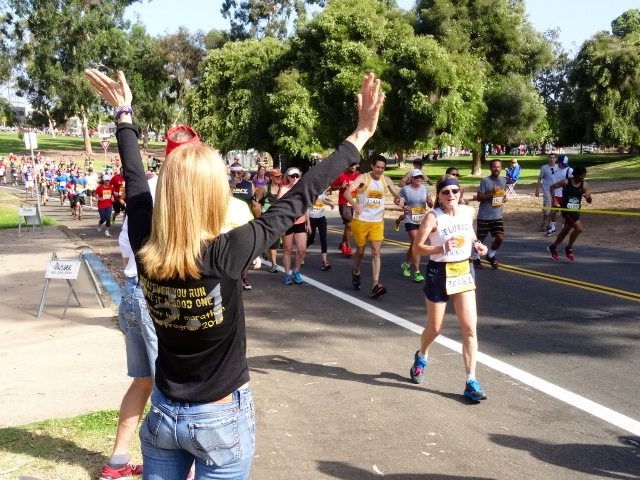 Marla's marathon cheering