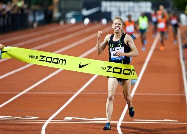 Galen Rupp goes 26:44.36 seconds to break his own American record at 10,000m.