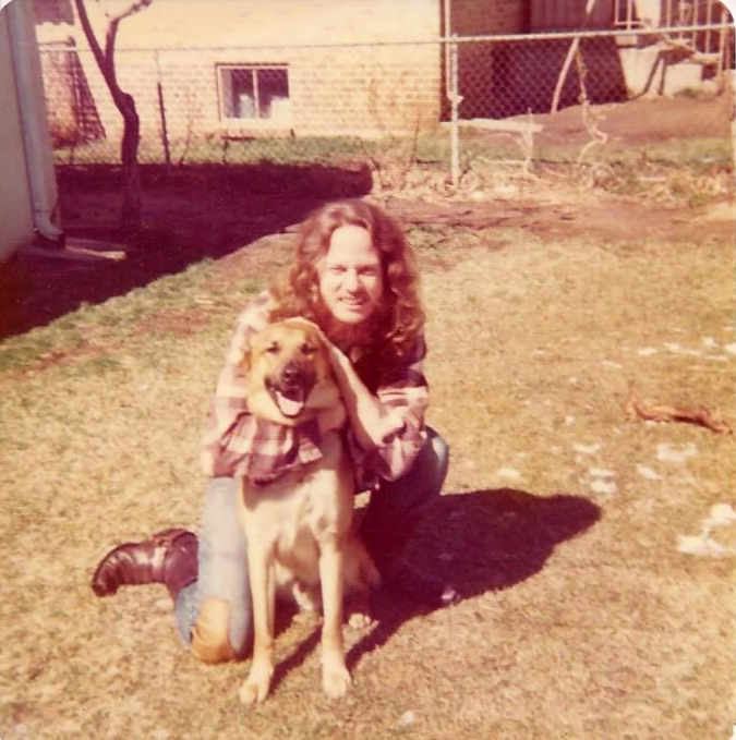 In 1974 with a good friend