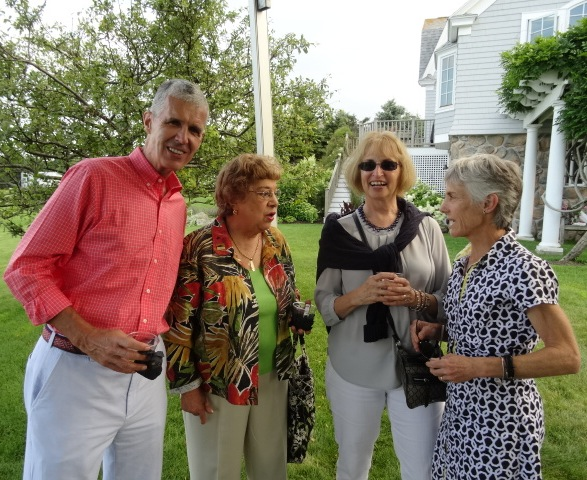 BAA executive director Tom Grilk with board member Gloria Ratti, wife Nancy, and Joanie at Candace Karu's host family party