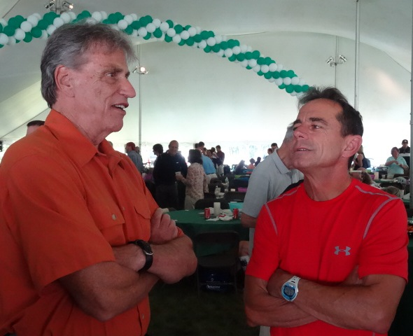 Joanie's coach from back in the day, Bob Sevene, with race director par excellence Dave McGillivray