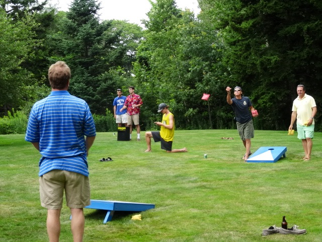 Top end bean bag competition at Jeff an Kerri Berman's party